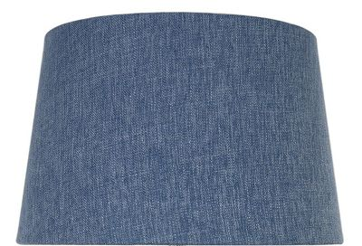 Stonewash Blue 13 Inch Linen Empire Shade (Dual Fitting)