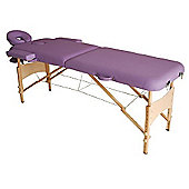 Homcom Portable Massage Table Bed Foldable - Purple