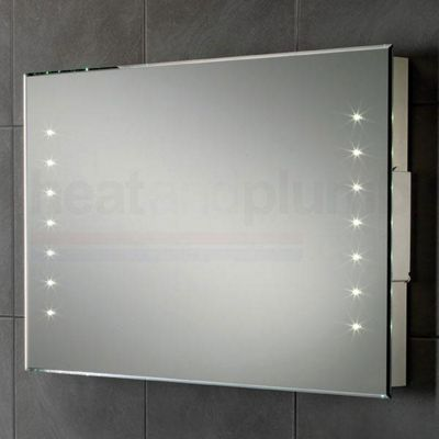 HiB Henry Rechargeable Battery Powered LED Bathroom Mirror 500mm High X  800mm Wide