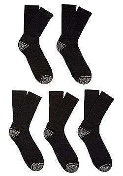 F&F 5 Pair Pack of Workwear Socks - Black