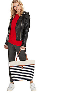 F&F Canvas Stripe Tote Bag