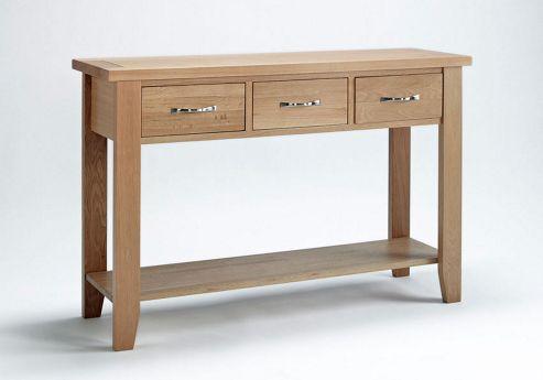 Ametis Sherwood Oak Console Table - 85cm
