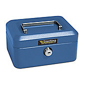 Sterling Blue Metal Cash Box - Blue