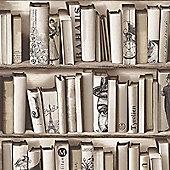 Muriva Encyclopedias Wallpaper - Beige - E82208