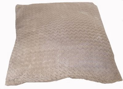 Country Club Chevron Fleece Jumbo Cushion, 55 x 55cm, Natural Ecru