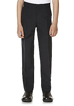 "F&F School 2 Pack of Boys Teflon EcoElite""™ Stretch Skinny Leg Trousers - Black"