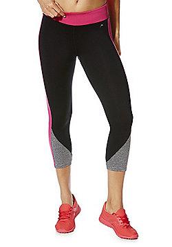 F&F Active Race For Life Side Stripe Capris - Black & Pink