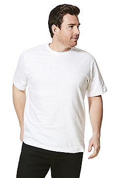 Jacamo Longer Length Crew Neck T-Shirt - White