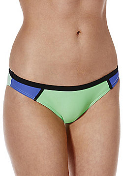 Pieces Colour Block Bikini Briefs - Multi