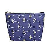 Medium Navy Coconut Print Make Up Bag
