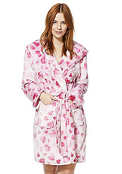 F&F Ombre Heart Dressing Gown - Pink