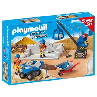 Playmobil 6144 Construction Site SuperSet