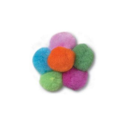 Impex Assorted Neon Pom Poms 25mm