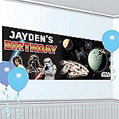 Star Wars Giant Personalised Birthday Banner - 1.65m