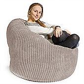Lounge Pug™ Mini Mammoth Cord Bean Bag - Ivory