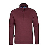 Mountain Warehouse Journey Mens Zip-Neck Top - Red