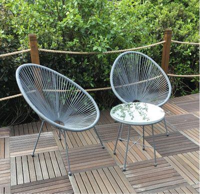 Royalcraft Monaco Grey 3 Piece Egg Chair