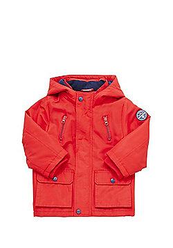 F&F Fleece Lined Mac - Red