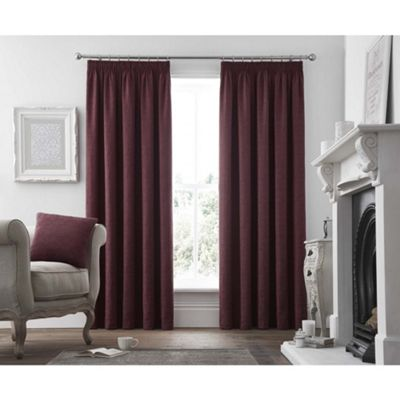 Curtina Voysey Ruby Pencil Pleat Curtains - 66x90 Inches (168x229cm)