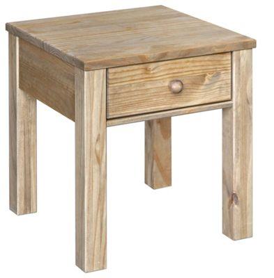 Hacienda Waxed Pine Lamp Table