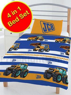 JCB 4 in 1 Junior Bedding Bundle