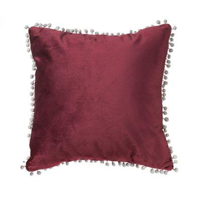 Burgundy Malia Soft Velvet Cushion 24