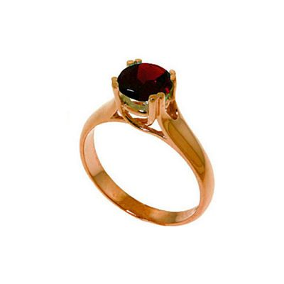QP Jewellers 1.10ct Garnet Solitaire Ring in 14K Rose Gold - Size T