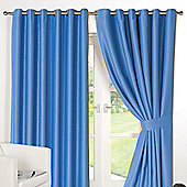 Dreamscene Ring Top Lined Pair Eyelet Thermal Blackout Curtains - Duck Egg - Duck egg