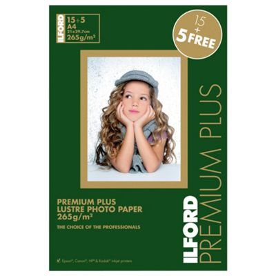 Ilford premium plus lustre photo paper - 20 sheets