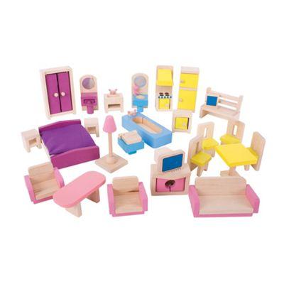 Bigjigs Toys Heritage Playset Doll Furniture Set