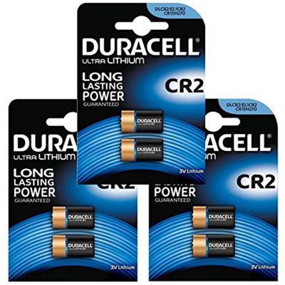 6 x Duracell Ultra Photo CR2 DLCR2 / EL1 / CR15H270 3v Lithium Batteries