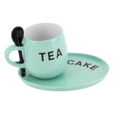 Green Mug And Plate Set