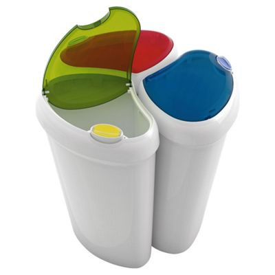 Lotus Recycling Bin 3pk Blue/Green/Red