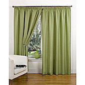 Hamilton McBride Canvas Unlined Pencil Pleat Curtains - Green