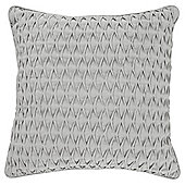 Tesco Textured Pleat Grey Cushion