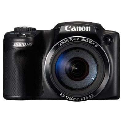 Canon Powershot SX510 Digital Camera, Black, 12.1MP, 30x Optical Zoom, 3