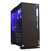 Cube i5K VR Glass Gaming PC Blue LED 32GB 240GB SSD 2TB WIFI RX 580 8GB Win 10