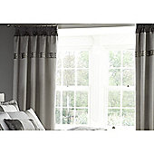 Catherine Lansfield Silver Gatsby Curtains 66x72 Inches (168x183cm)
