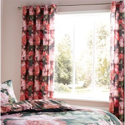 Catherine Lansfield Dramatic Floral Curtains - 66x72 Inches (168x183cm)