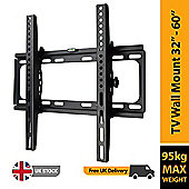 "BillyOh Vantage 1 TV Wall Mount Bracket with Tilt 95kg Max Weight for 32 40 42 46 48 50 55 60"" LCD LED Plasma Televisions 4K UHD"