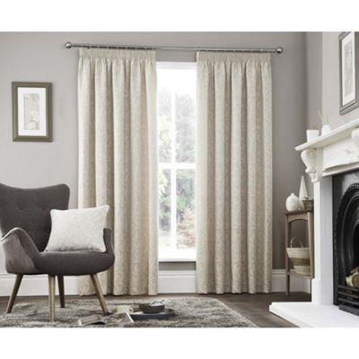 Curtina Valda Natural Pencil Pleat Curtains - 66x90 Inches (168x229cm)
