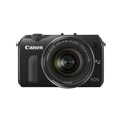 Canon EOS M (18MP) Digital SLR Camera 30 inch LCD (Black) + EF-M 18-55 Lens