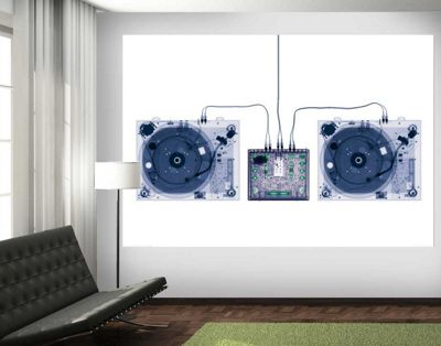 1Wall X-Ray DJ Decks Wall Mural