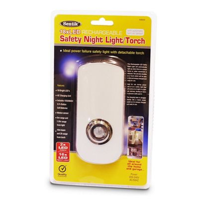 18 LED Rechargeable Motion Sensor Safety Night Light Emergency Power Cut Torch