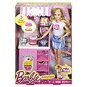 Barbie Doll Bakery Owner Playset