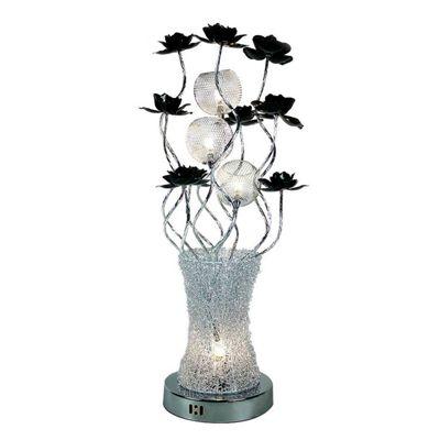 Innoteck Black and Silver Aluminium Flower Vase LED Lamp