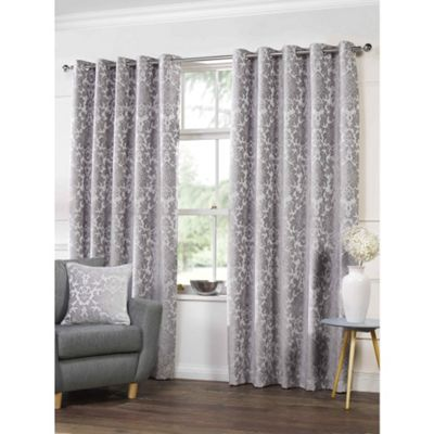 Highgate Silver Eyelets Curtains - 66x90 Inches (168x229cm)