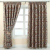 """Homescapes Multi-Colour Jacquard Curtain Abstract Design Fully Lined - 90"""" X 54"""" Drop"""