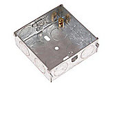 SMJ 25mm Metal Back Box Double