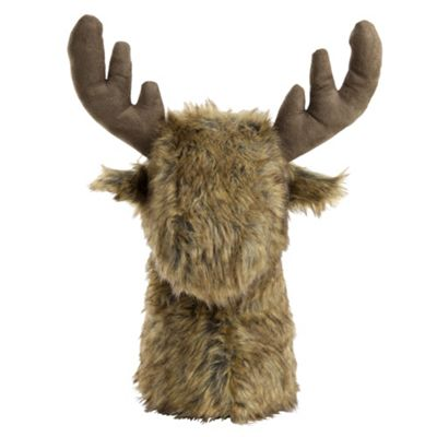 Large Faux Fur Reindeer Stag's Head Christmas Doorstop